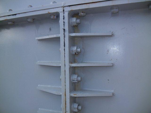 ▲<参考>2012年2月3日東電提供写真淡水化装置濃縮水貯水槽フランジ部分
