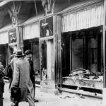 水晶の夜、1938年11月 マグデブルク、破壊されたユダヤ人の商店