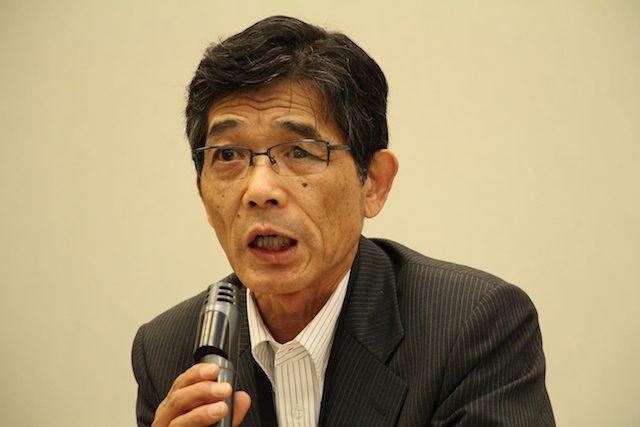 ▲米国の要求に付き従う政府を批判する須藤和広氏