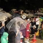 前回よりも強い雨だったにも関わらず参加者は増え続けている