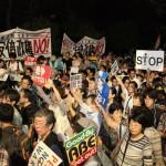 ▲安保法制のほか原発やヘイトスピーチなど、様々なテーマから「安倍政権NO!」を訴えた