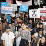 ▲夏休み中の出国ラッシュ時期にも関わらず、抗議には6000人が集まった