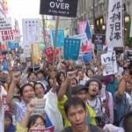 150906_hl安全保障関連法案に反対する学生と学者による街宣行動@新宿伊勢丹前 歩行者天国 コピー_1