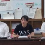 150917_hl【大阪】「大阪市立大学と大阪府立大学について、学生との合意のない統合撤回を求める陳情書」市議会提出後の記者会見
