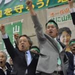 ▲野党共闘が実現した梅津陣営