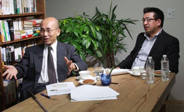 ▲埼玉大学名誉教授・三輪隆氏(左)と陸上自衛隊元レンジャー隊員の井筒高雄氏(右)