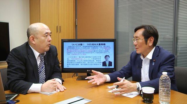 ▲大阪系議員への不信感について語る松木謙公議員
