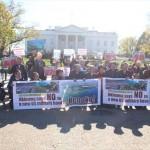 ▲最終日、現地時間11月20日のホワイトハウス前アピールの様子。