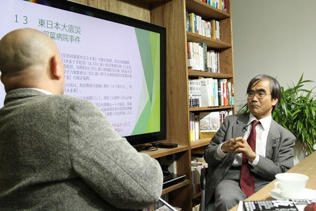 ▲東日本大震災「双葉病院事件」の悲劇を振り返る永井弁護士