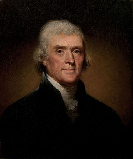 ▲トマス・ジェファーソン公式肖像画