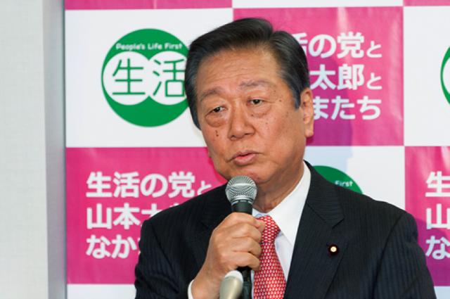 参院選の野党共闘について見解を述べる小沢一郎共同代表