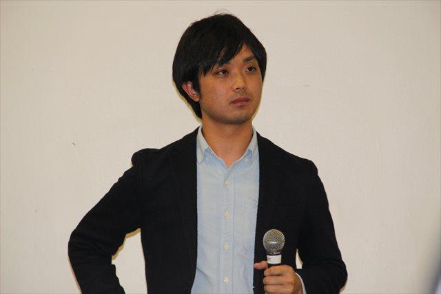 ▲スピーチする新田築氏=写真7=