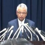 ▲辞任会見する甘利明経済再生担当大臣(2016年1月28日)