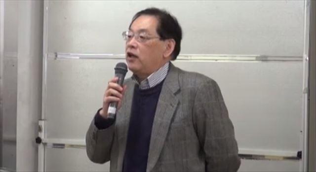 ▲勝木吐夢氏(全日本放送受信料労働組合書記長)