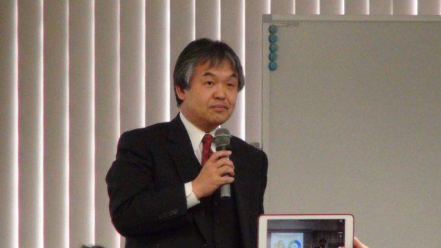 ▲白岩紀人氏(みやまスマートエネルギー株式会社)