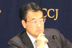 160511_日本外国特派員協会主催 民進党・岡田克也代表 記者会見