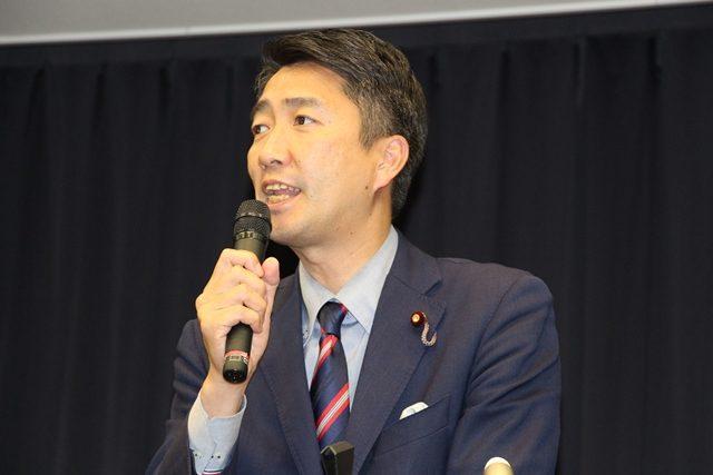 ▲日本共産党の清水忠史議員