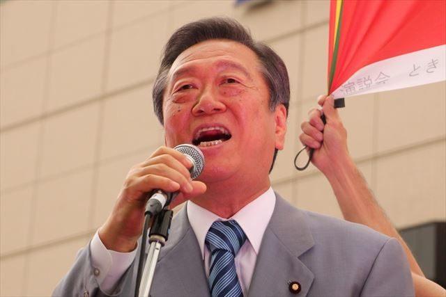 ▲生活の党と山本太郎となかまたち共同代表・小沢一郎衆議院議員