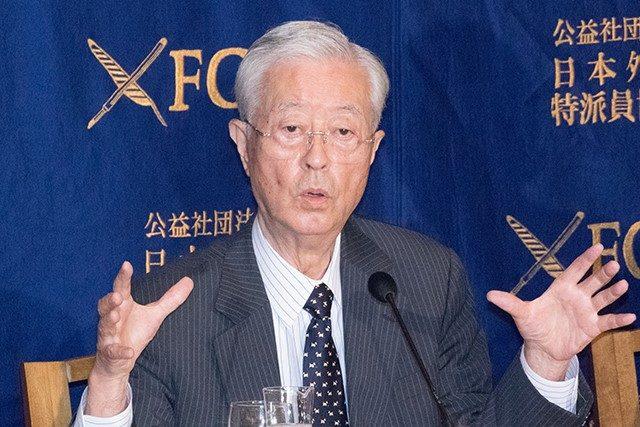 ▲田久保忠衛 「日本会議」会長