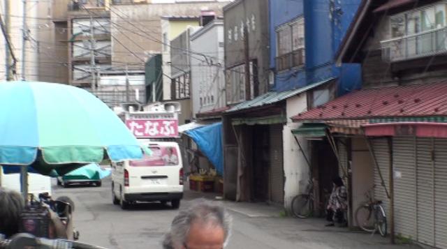 ▲シャッター街となった青森市古川の市場