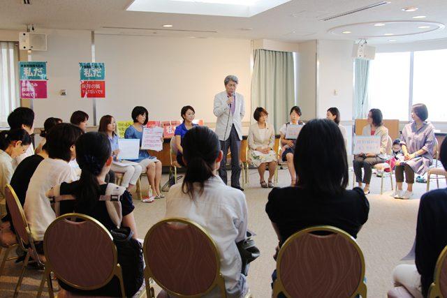 ▲保育園待機児童問題への抱負を語る鳥越東京都知事候補