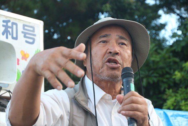▲沖縄平和運動センター事務局長・山城博治氏