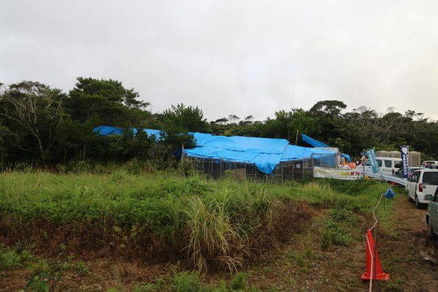▲高江の森に設置された「N1裏テント」