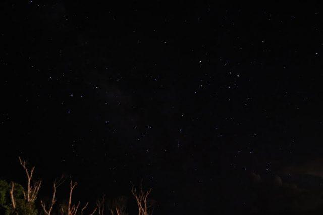 ▲満天の星が輝く高江の夜
