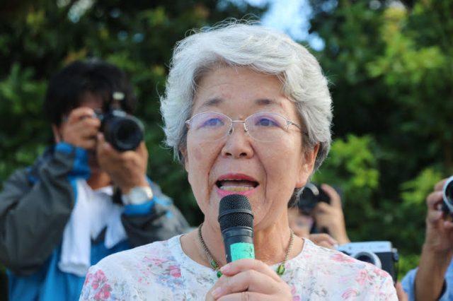 ▲元愛媛県会議員の阿部悦子さん