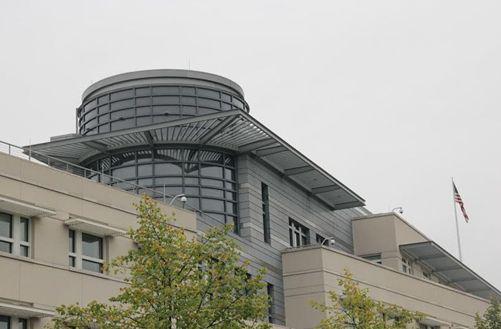 ▲ベルリンの米大使館にあるレーダードーム