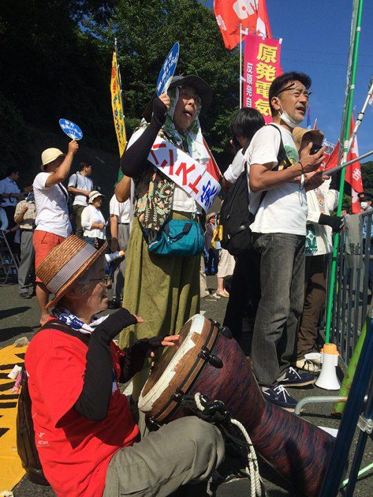 ▲福島をはじめ、福井、鹿児島、東京、広島、京都など全国各地から原発再稼働に納得できない市民が集まり、抗議の声をあげた