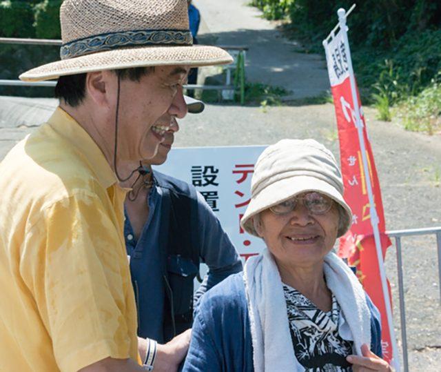 ▲約40年にわたって八幡浜市から伊方原発への反対を訴え続けてきた斉間淳子さん