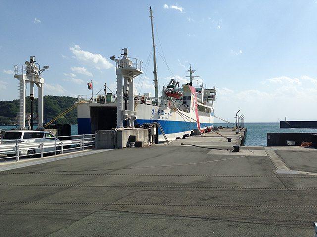 ▲三崎港 大地震に見舞われた時、この港は機能するのだろうか
