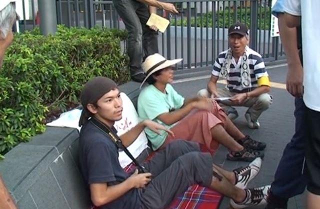▲2011年9月11日から10日間、若者たちが経産省前でハンガーストライキを行った