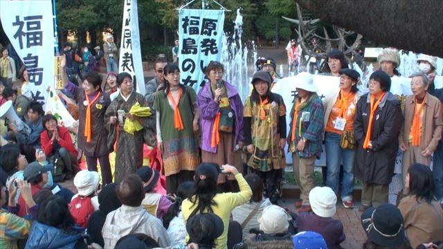 ▲2011年10月27日から3日間行われた「原発いらない福島の女たち」による座り込みアクション