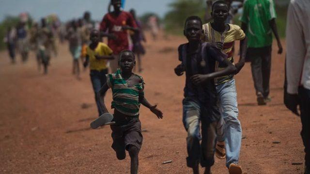 ▲紛争下にある南スーダンの様子(セントリー提供)
