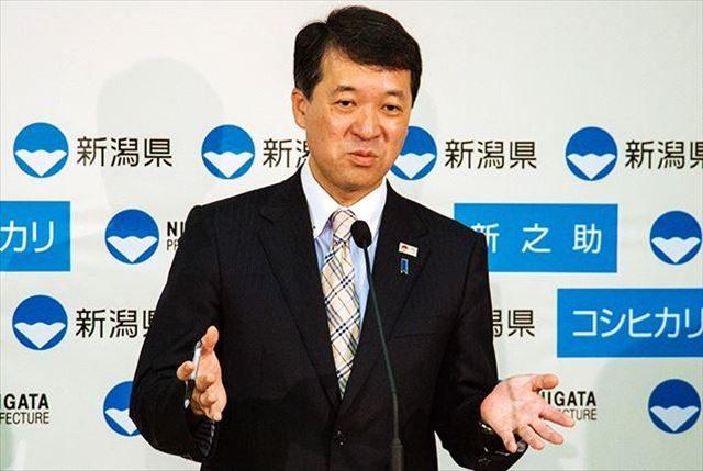 ▲出馬撤回を発表した新潟県の泉田裕彦知事