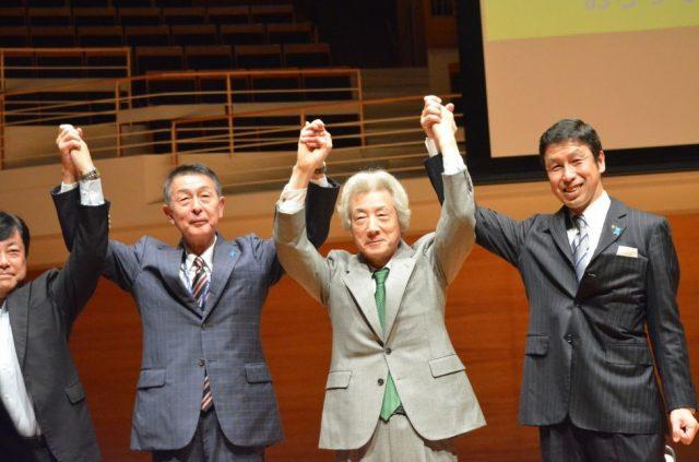 ▲小泉元総理と米山隆一新潟県知事