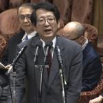 ▲参考人質疑で陳述する岩月浩二弁護士