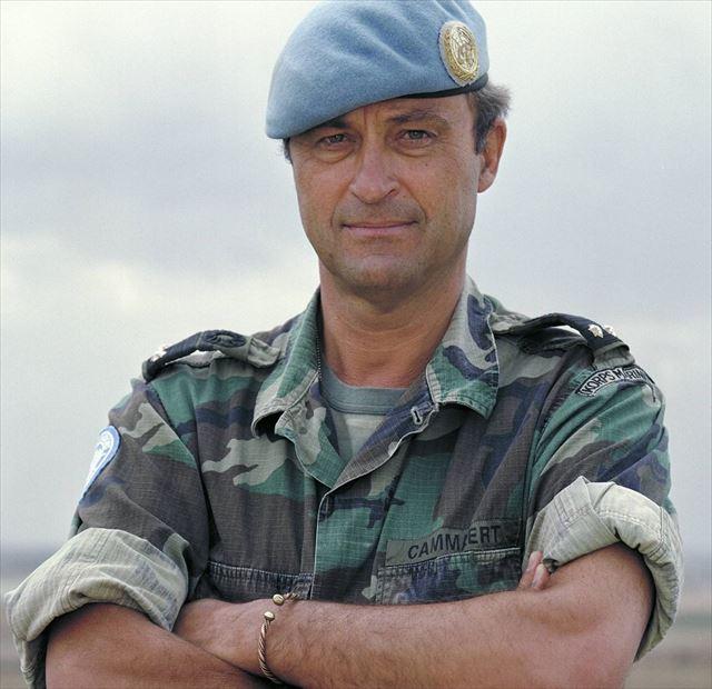 ▲国連独立調査団長に任命されたパトリック・カマート(Patrick Cammaert)氏(2001年)
