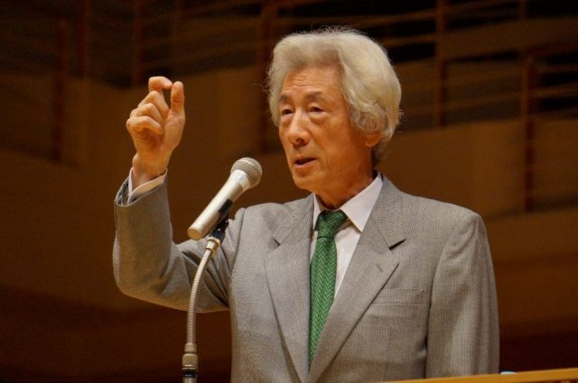 ▲講演する小泉純一郎元総理――11月4日、新潟市内