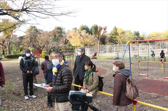 ▲子どもたちが遊ぶ青山公園の様子。