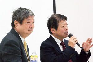 ▲弁護士・海渡雄一 氏(左)、元法務大臣・平岡秀夫 氏(右)
