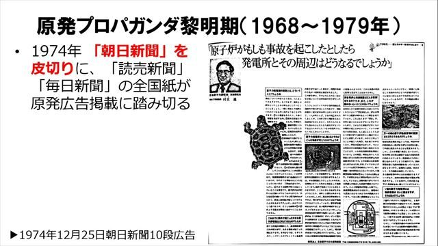 ▲朝日新聞の原発広告