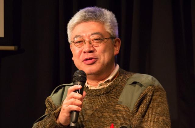 ▲講演する軍事評論家の古是三春氏