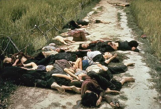 ▲1968年3月18日に起きたソンミ村虐殺事件。ベトナム戦争時、米軍が無抵抗の村人504人を虐殺した(写真:Wikipedia)