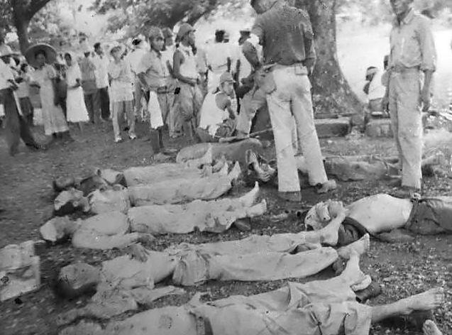 ▲「バターン死の行進」で死亡したアメリカ兵捕虜(写真:Wikipedia)