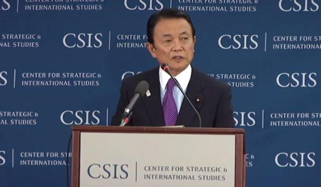 ▲講演する麻生太郎副総理――2013年4月19日、ワシントン