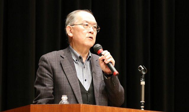 ▲戦争させない!9条壊すな!総がかり実行委員会・共同代表の高田健氏
