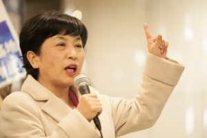 ▲社民党・福島みずほ議員